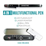 Spectre Laser Pointer 4 in 1 PDA Pen Ink Pen Training Toy For Cats Dogs Interactive Led Light Presenter BATTERIES INCLUDED (Color: Black, Tamaño: Ø1x15CM)