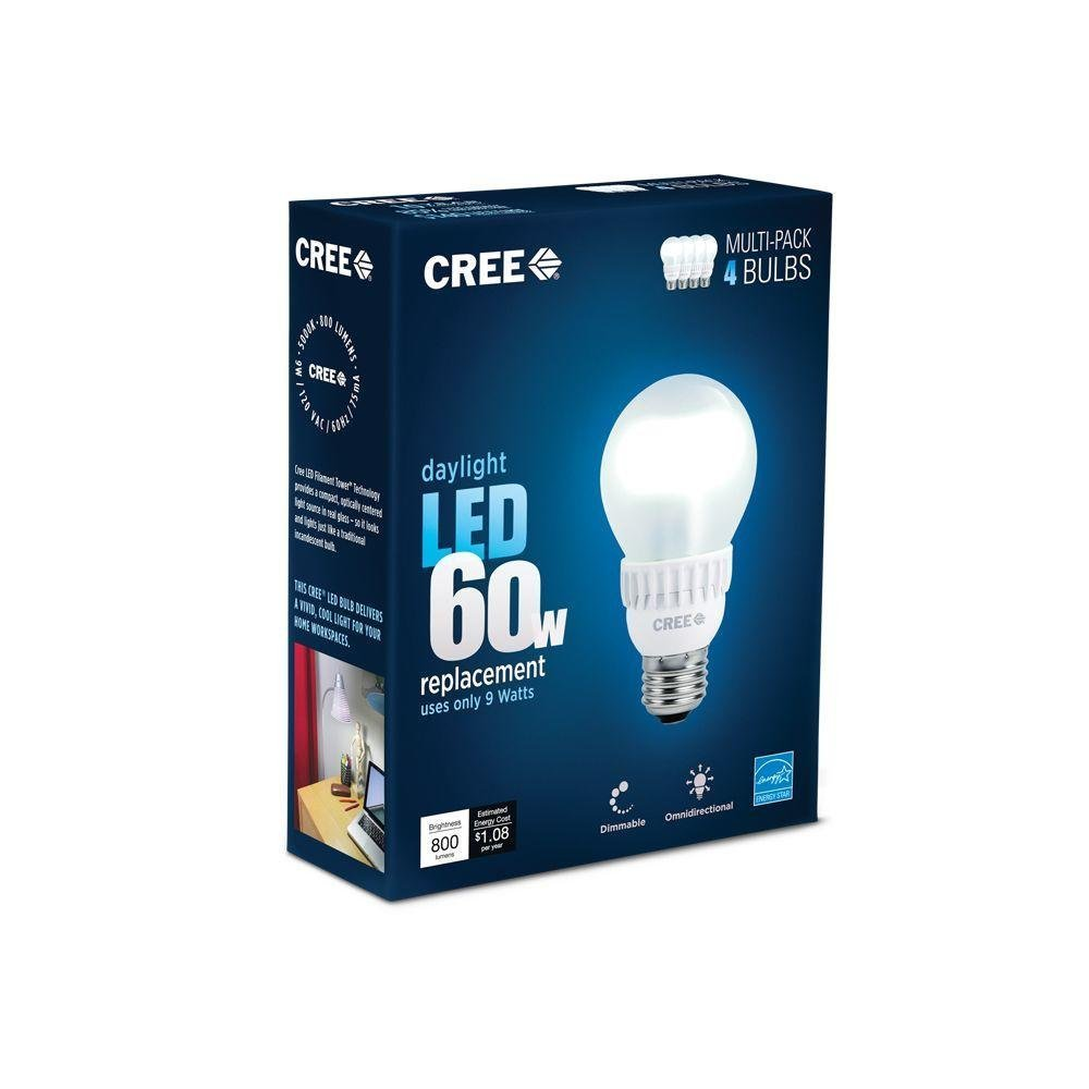 cheap cree 60w equivalent daylight 5000k a19 dimmable. Black Bedroom Furniture Sets. Home Design Ideas