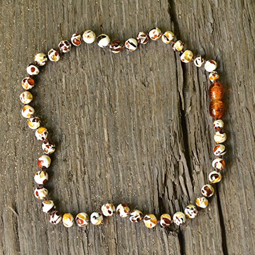 Teething Necklace with Baltic Amber Pieces - 1