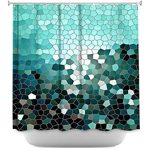 Shower Curtain Artistic Designer from DiaNoche Designs by Arist Iris Lehnhardt Unique, Cool, Fun, Funky, Stylish, Decorative Home Decor and Bathroom Ideas - Patternization V