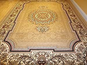 Amazon Com New Persian Tabriz Style Beige Rug 8x11 Area