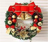 Owojo Christmas Wreath クリスマスリース・ドライフラワー Large クリスマスフェザー花輪 36cm (3)