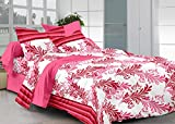 Cenizas 100% Cotton Double Bedsheet With 2 Pilow Covers( 5218 A )