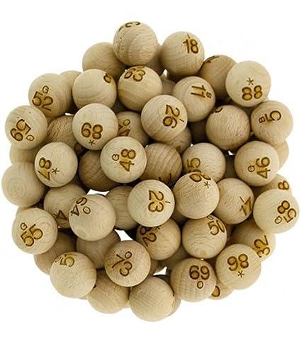 90 boules en bois numérotées 22 mm matériel pour loto et bingo