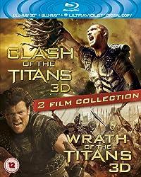Clash of the Titans 3D / Wrath of the Titans 3D [Blu-ray + Blu-ray 3D + UV Copy][Region Free]