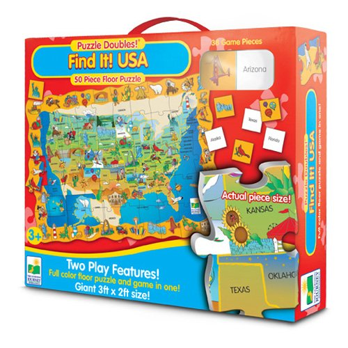 The Learning Journey Puzzle Doubles! Find It! USA - 1