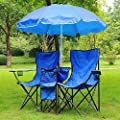 Double Camping Folding Chair and Umbrella acquired from AV Prime Inc.