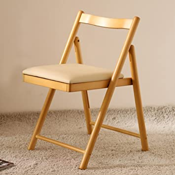 JJZDYZ Sillas plegables moderna simplicidad madera sólida Creative Housewares sillas plegables salón balcón del adulto plegable silla portátil respaldo (53 * 70.5cm) Silla plegable ( Color : B )