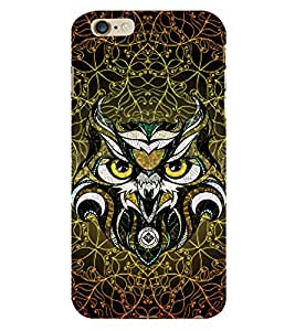 Owl 3D Hard Polycarbonate Designer Back Case Cover for Apple iPhone 6S Plus