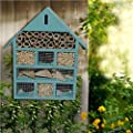Wooden Large Blue Insect Bugs Garden Hanging Hotel Home Bees Ladybird Nest Box House