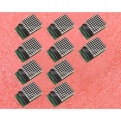 Heartsea Technology10Pcs Max7219 Dot Led Matrix Module Mcu Control Led Display Module Diy Kit