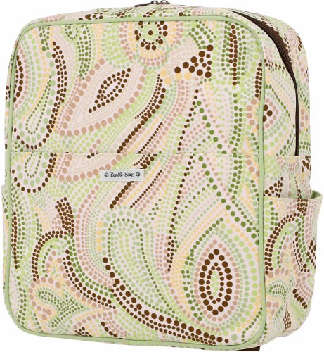 Bumble Bags Madeline Hanging Stroller Backpack Lemon-Lime Dot