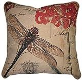 DaDa Bedding CC-15041 Dragonfly Dream Woven Cushion Cover, 18-Inch