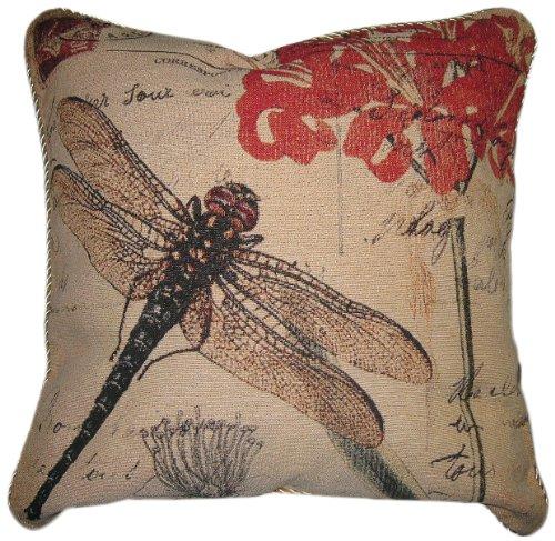 Big Save! DaDa Bedding CC-15041 Dragonfly Dream Woven Cushion Cover, 18-Inch
