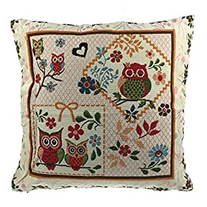 Amazon.com - Luxbon - Durable Machine Washable Tapestry Jacquard Throw Pillow Case Custhion ...