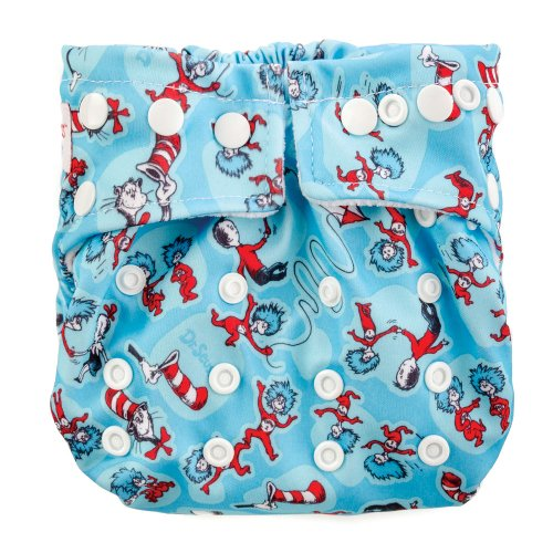 Bumkins Snap-In-One Cloth Diaper, Cat In The Hat