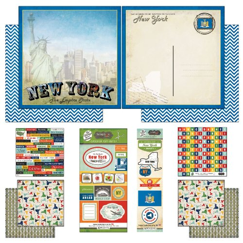 Scrapbook Customs Themed Paper and Stickers Scrapbook Kit, New York Vintage