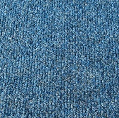 "Pacific Blue Indoor-Outdoor 3/16"" Thick Unbound Area Rug With Latex Marine Backing"