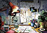 Ravensburger Disney Pixar: The Artist's Desk Puzzle (1000 Piece)