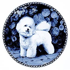 Amazon.com : Bichon Frisé / Lekven Design Dog Plate 19.5 cm /7.61