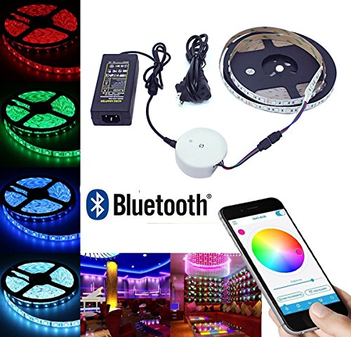 ProSense light Bluetooth Smartphone App Controlled 5M Multi Color RGB Strip Light Kit,Works with IOS, Android, Windows and Amazon Fire Phone & Tablet Accent Bluetooth Control System Kit (5M) (Apps For Window Phone compare prices)