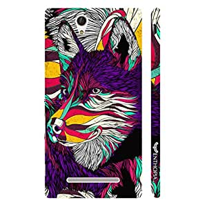 Enthopia Designer Hardshell Case What does the fox say? Back Cover for Sony Xperia C3
