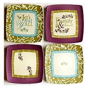 Paula Deen Malamine Snack Plates - Set of 12