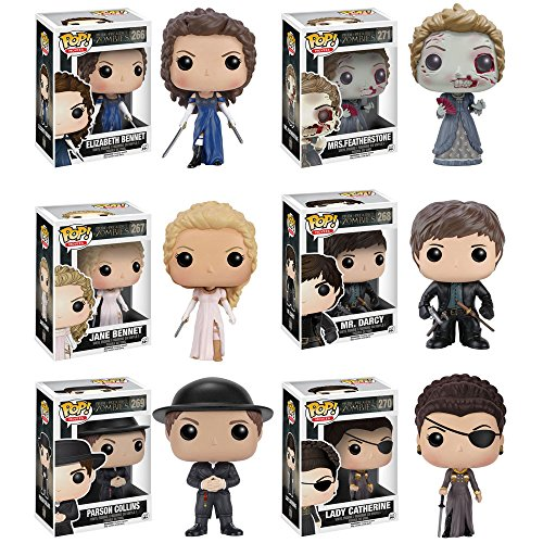 Pop! Movies: Pride and Prejudice and Zombies Vinyl Figures! Set of 6