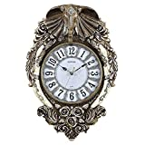 GATTS European luxury Lucky Elephant mute wall clock,100% real picture, Annabel large elephant wall clock living room.