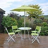 6 Piece Lime Green Garden Furniture Set