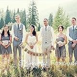 結婚式 の 前撮り や 二次会 パーティー で 大活躍 ! ウエディング 小物 セット (JUST MARRIED ガーランド・ブラウン)