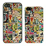 DC Marvel comic book strips cover case for Apple iPhone 5C - G787 - Black