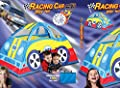 """63"""" Indoor/Outdoor Race Car Play Tent With Carry Case"""