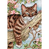 Gold Collection Petite Napping Kitten Counted Cross Stitch K-5