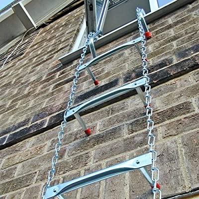 "Saf-Escape 2 Story 15' Portable Escape Ladder - Fits up to 14"" Thick Walls!"