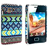 LIGHT NEW GREEN AZTEC TRIBE TRIBAL PATTERN RETRO VINTAGE PRINT HARD BACK PROTECTION CASE COVER FOR SAMSUNG STAR 3 DUOS S5220 S5222