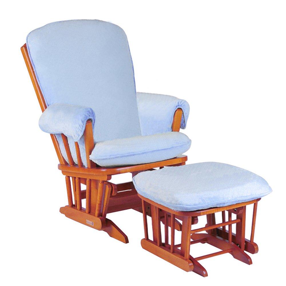 Luxe Basics Cover Me Glider Stuhl Bezug, Baby Blau