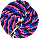 "Perri's 1/2"" Black/Royal/Hot Pink Colored COTTON Lead, Black/Royal Blue/Hot Pink, 1/2"" X 6'"