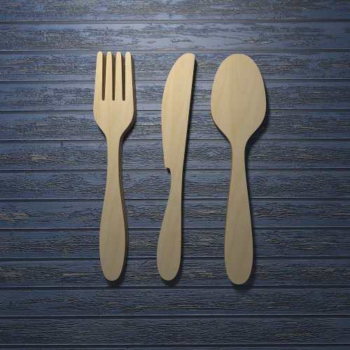 Wooden Utensil Wall Decor : Wooden spoon and fork wall decor