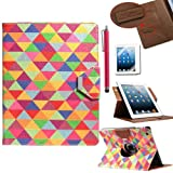 Pandamimi ULAK(TM) 360 Rotating Magnetic PU Leather stand Case Smart Cover For Apple New iPad 4th Generation (Wake/sleep Function) Apple iPad 2, iPad 3(the new iPad)W/Touch Stylus+ Screen protector (Pattern-In love with) ~ ULAK