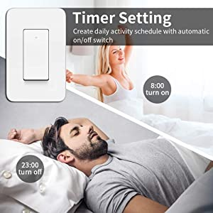 3 Way Smart Light Switch, Compatible with Alexa, Google Assistant, IFTTT, WiFi Light 3-way Switch, Neutral Wire Required, Schedule Setting APP Remote Control, ETL, No Hub Required (2) (Color: White, Tamaño: 2pack)