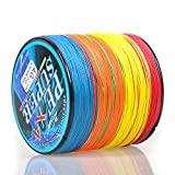 Eveangler Braided Fishing Line 545 Yds 19Lb-70Lb 4 Strand Multi-Color PE Line (Lb. Test: 50LB (4.0#))