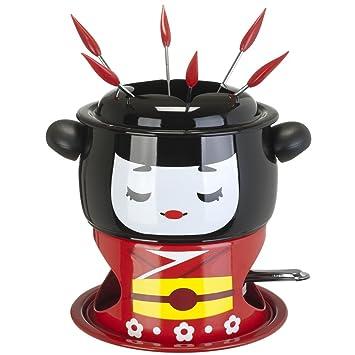 5 service fondue fondue caquelon et r chaud design geisha cuisine maison maison m267 - Alcool a bruler fondue ...