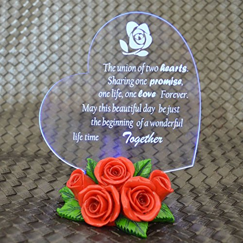 Giftgarden® Wedding Favors Gifts with LED Light up Heart Statue