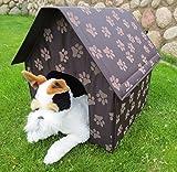 Hundehaus Hundehütte Hundebett Reisebett Hundeheim braun Hundekorb Hundehöhle Hund Katze