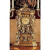 Design Toscano Chteau Chambord Clock (Color: Gold, Tamaño: 20 Inch)
