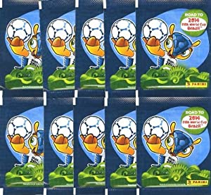 2014 Panini Stickers FIFA Road to the World Cup Brazil Collectors Package with Ten Packs with 50 Stickers
