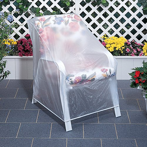 set of 2 outdoor vinyl clear chair furniture protector. Black Bedroom Furniture Sets. Home Design Ideas