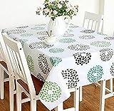 北欧 柄 テーブル クロス 防水 撥水 加工 済 選べる サイズ キッチン ダイニング インテリア (マルチサークル 137×180cm)