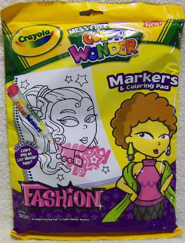 Crayola Color Wonder Fashion Markers and Coloring Pad Set